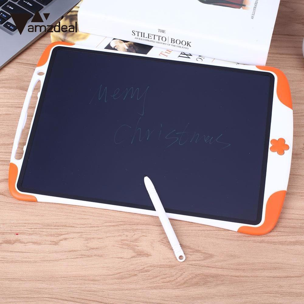 AMZDEAL Portable 12 inch LCD Electronic Writing Pad Handwriting Board Drawing Tablet Notepad with Style Pen for Kids Gift
