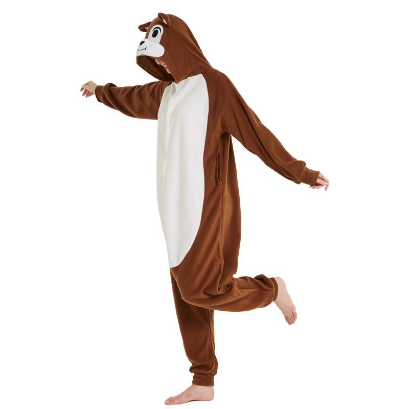 Unisex Adult Animal Squirrel Pajamas Cartoon Chipmunk Kigurumi Onesies Costumes Jumpsuits Christmas Gift (5)