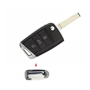 OkeyTech задняя часть из металла для VW Golf 7 GTI MK7 Skoda Octavia A7 Сменный Чехол для автомобильного ключа 3 кнопки