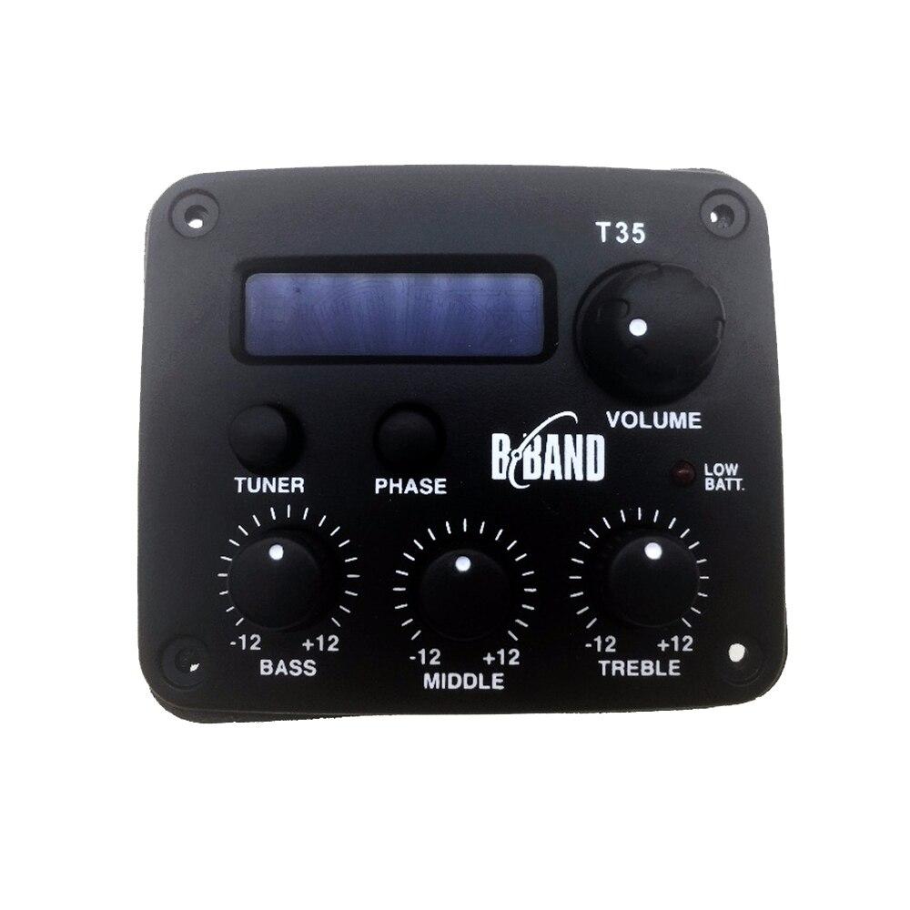 Original B BAND T35 guitare acoustique Pick-Up accessoires de guitare pièces T35C affichage chromatique et Tuner intégré Pick-Up