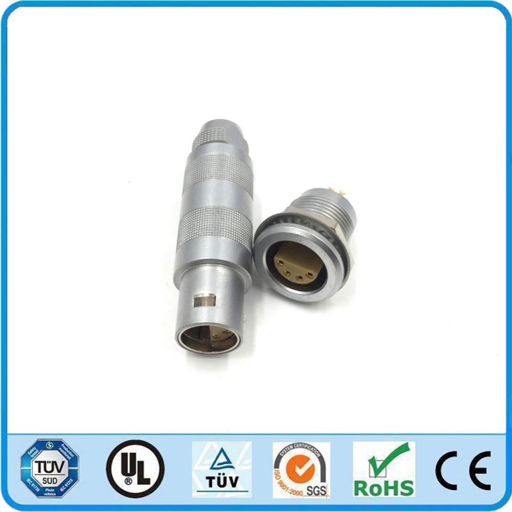 LEMO Connector 2S 4 6 8 10 Pin FFA ERA Half Moon Circular Metal Male Plug