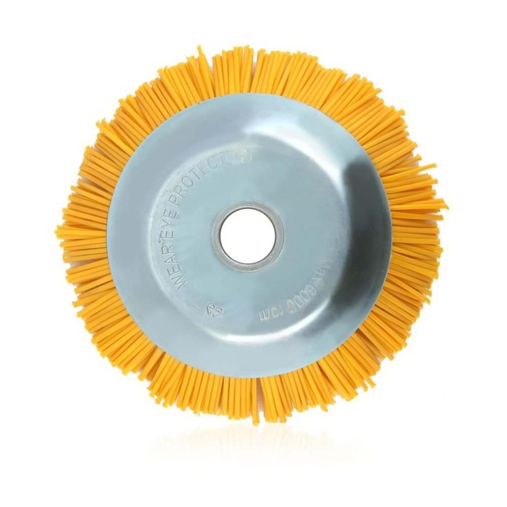 Tipo de taz/ón de alambre Cortador de cepillo Mechinery Cepillo de deshierbe de alambre de nylon duradero Herramientas de rueda de alambre Suministros Cepillo industrial Aleatorio