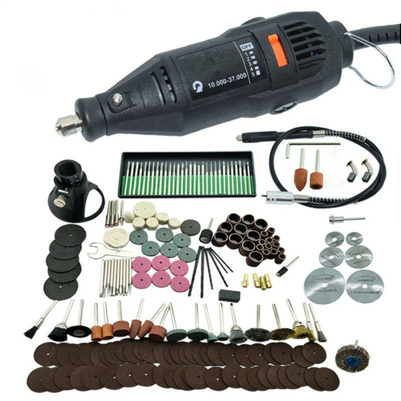 Mini electric drill rotary tool grinder set micro drill cutting carving jade polishing machine variable speed power tool