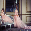 2016 Pink Flower Girl Dresses for Wedding Puffy Ball Gowns first communion dresses for girls pageant dresses Kids Evening Gowns