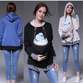 Maternity Coats Jacket Kangaroo Winter Maternity Hoody Long Sleeve Outerwear Coat for Pregnant Women Baby Carrier