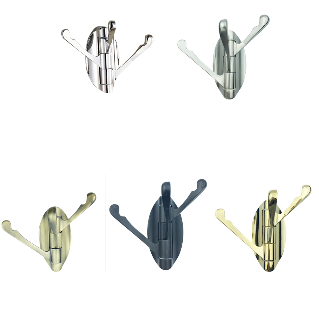 180 Degree Rotation Clothes Hanger Wing Row Hook Coat Bathroom Kithcen Bedroom Hanging Rack Hat Crook Robe Hooks