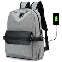 2018 Casual USB Charging Port Laptop Backpack For Unisex Women Men Fashion Solid School Bagpack Bookbag Girls Mochila Feminina