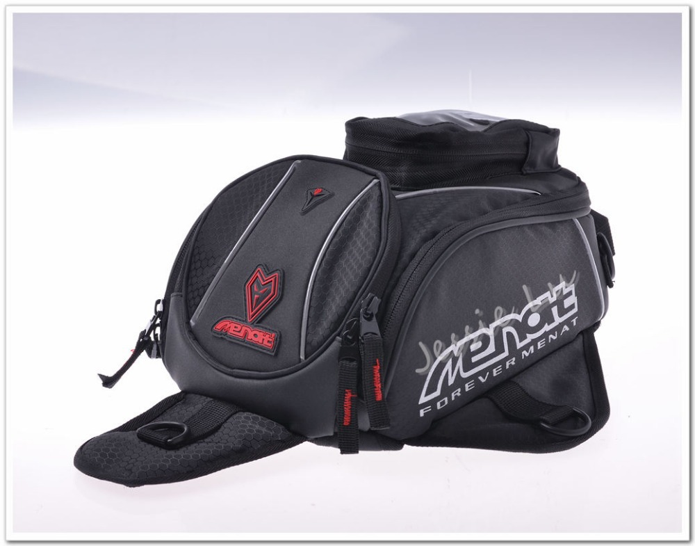 Genuine Menat Black Oil Fuel Tank Bag Magnetic Motorcycle Motorbike Back Seat R1 Cbr1000rr Zx 10r Gsx R1000 Mb 019 In Bags From Automobiles