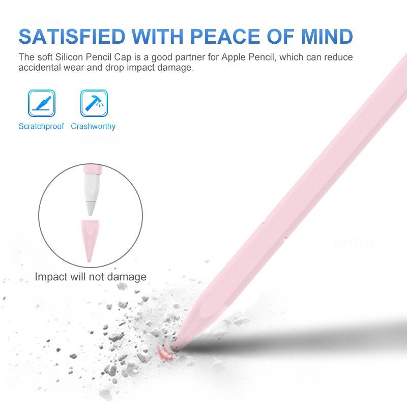 Étui en Silicone capuchon pointe porte-couvercle tablette tactile stylet pochette pour Apple crayon 1 génération étui pour ipad crayon - 2