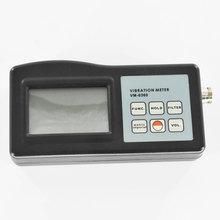 Digital Vibration Meter Tester 10Hz-10kHz Measures Acceleration Velocity Displacement RPM Frequency Vibrometer Gauge Analyzer vm6380 2 double channel digital meter portable vibrometer vibration analyzer tester with 2 piezoelectric transducers sensor