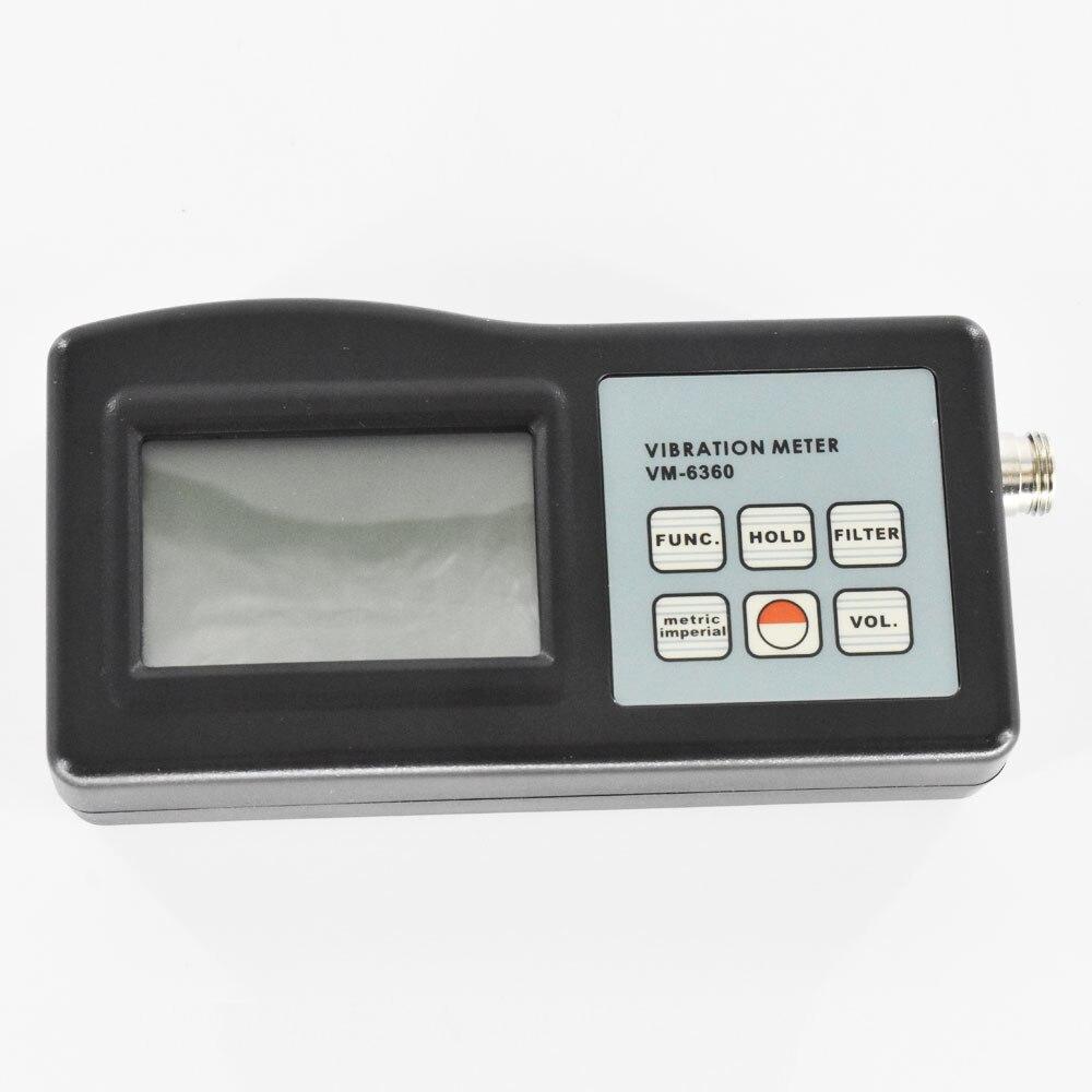 Aletler'ten Titreşim Ölçerler'de Dijital Titreşim Ölçer Cihazı 10Hz 10 kHz Ölçer Hızlanma Hız Deplasman RPM Frekans VM 6360 Ölçer Analizörü title=