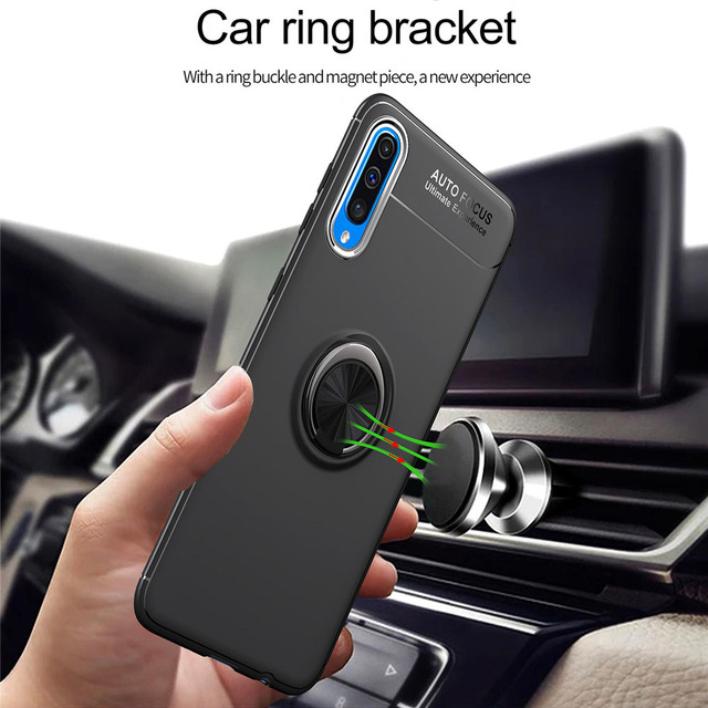 Phone Case For Samsung Galaxy A50 A70 Case Luxurry Magnetic Car Ring Soft Silicone Cover Funda For Galaxy A30 A40 A 50 Case Capa 1