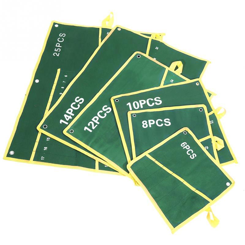 Durable 14 Pocket Canvas Schraubenschlüssel Tool Organizer Holder