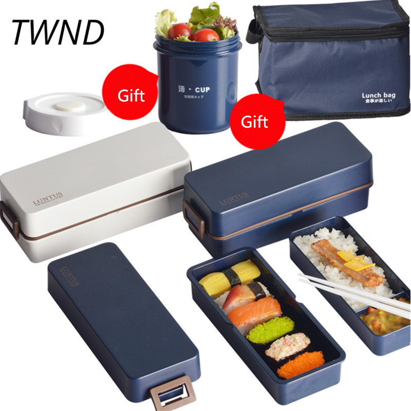 176cb989a274 Japan style bento boxes microwavable creative food container with bag
