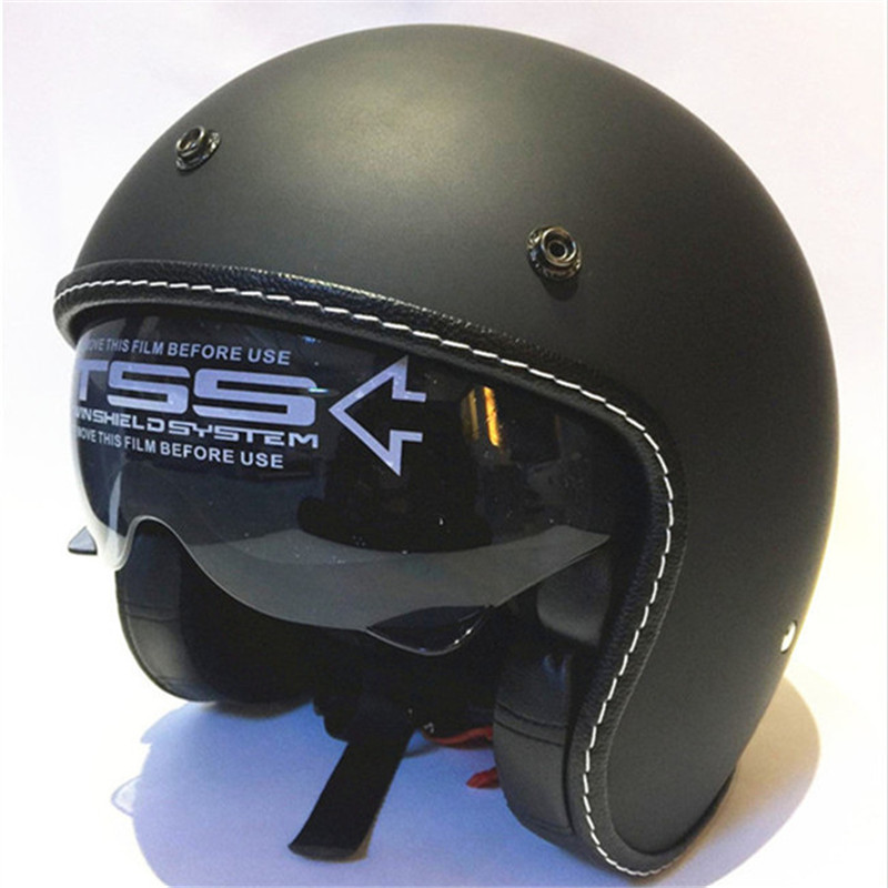 Heißer motocross helme (5 farben) MASEI rubin vintage helm 3/4 Open Gesicht Roller Helm Vintage Harley Jet Motorrad Helm