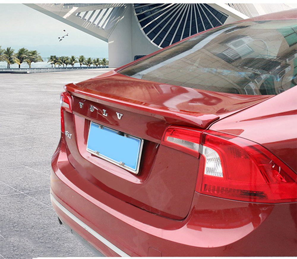 SHCHCG Car Styling ABS Plastic Unpainted Primer Color Rear Roof Trunk Wing Spoiler For Volvo S60 s60l S60L Spoiler 2012-2017