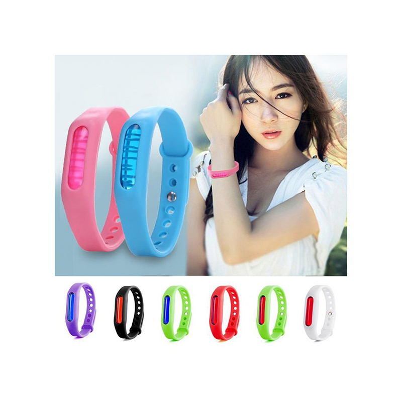 Image 2 - 5pcs/lot Wristband Anti Mosquito Pest Insect Bugs Repellent Repeller Wrist Band Bracelet 25-in Repellents from Home & Garden