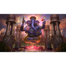Full Square Drill 5D DIY Elephant lotus art picture diamond painting Cross Stitch 3D Embroidery Kits home decor H47 full square drill 5d diy girl elephant moon balloon night diamond painting cross stitch 3d embroidery kits home decor h39