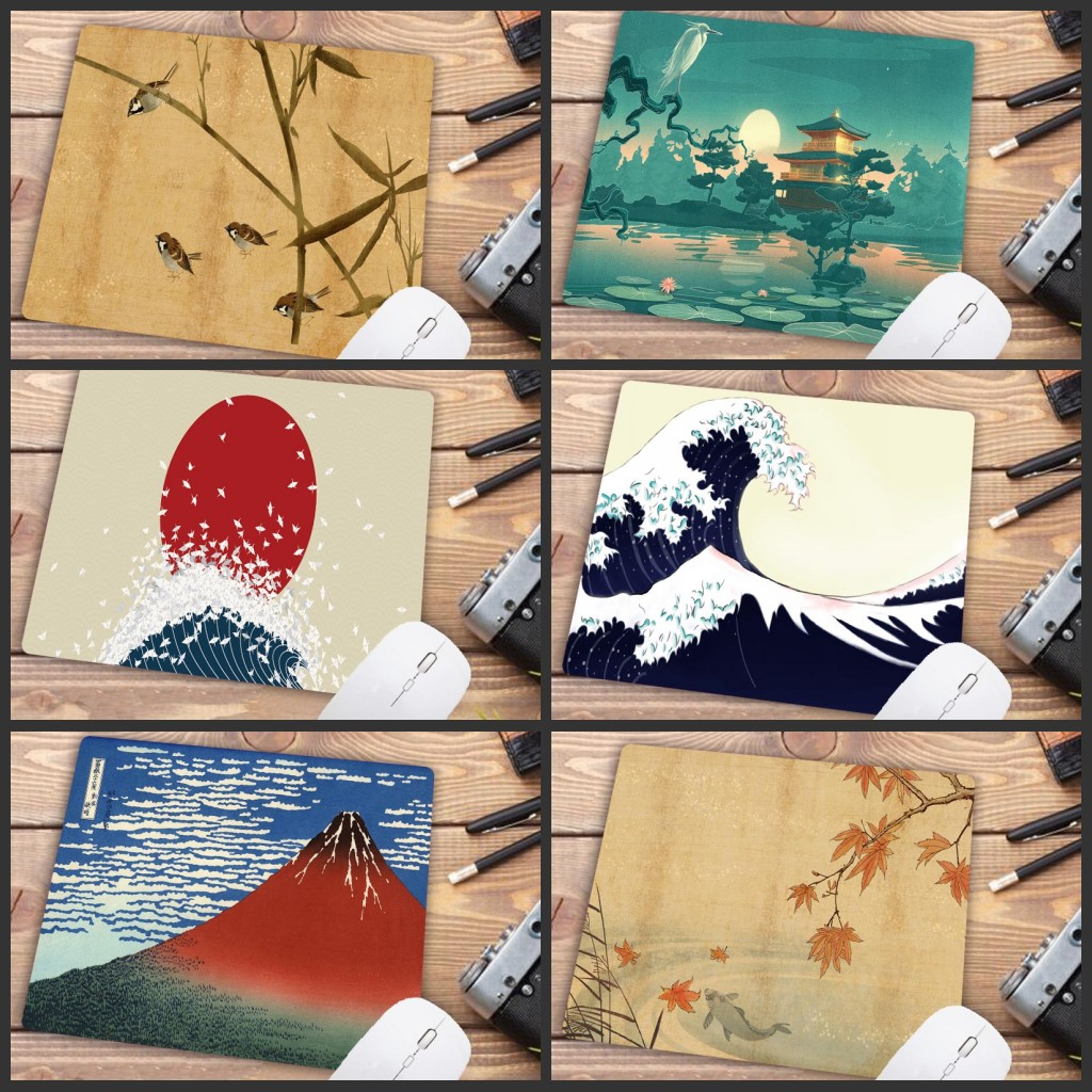 Mairuige Big Promotion Japanese Art  Painting Unique Desktop Pad Game Mousepad Customized Your Own Style Mouse Pads 22X18CM