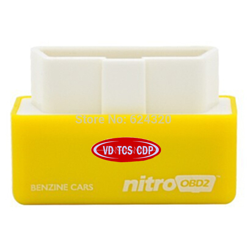 Новое поступление желтый nitroobd2 бензин чип-тюнинг автомобиля окно более Мощность/больший крутящий момент Nitro OBD подключи и Драйв OBD2 Инструмен...