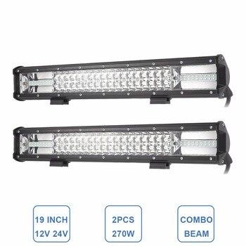 19INCH LED WORK LIGHT BAR OFF ROAD CAR SUV FOG LAMP 12V 24V WAGON PICKUP ATV TRAILER TRUCK CAMPER 4X4 4WD 12V 24V DRIVING LAMP