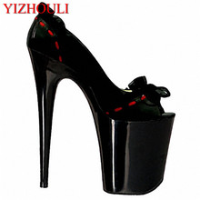 8 inch peep toe lace heels lace wedding shoes 20cm high heel shoes sexy women fashion heels Platforms Pumps red