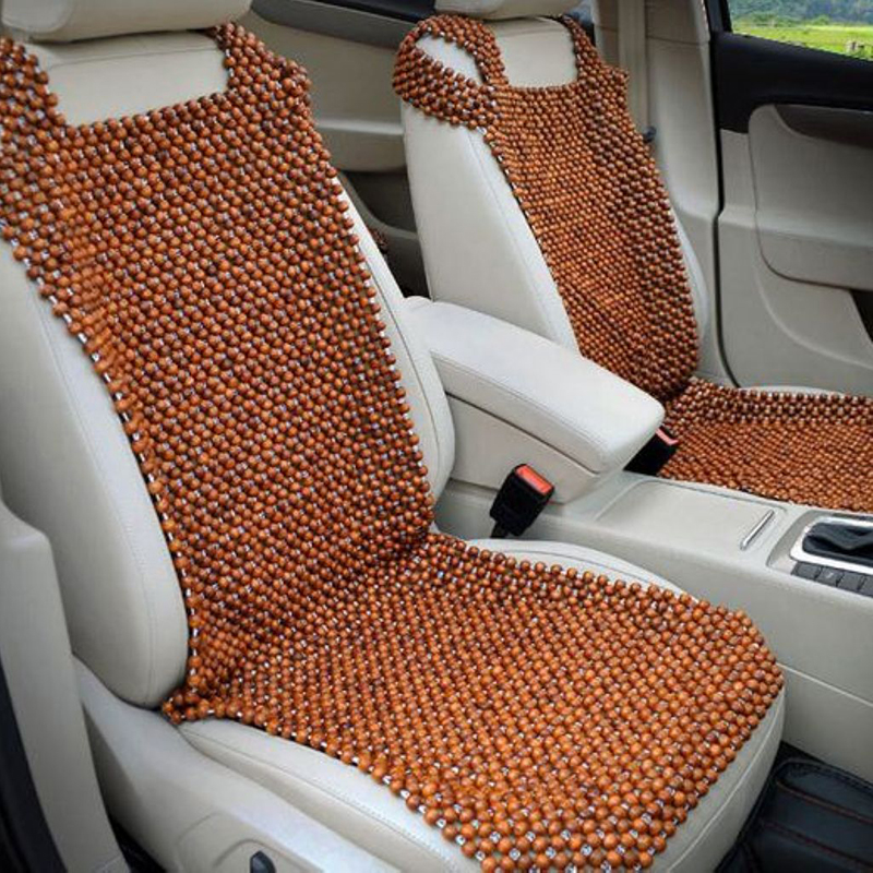 4 X Universal Wooden Beaded Car Seat  Cover Cushion Pad Mat Back Massager New Wholesale