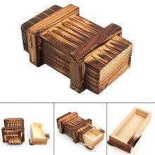 Wooden Puzzle Box Toys Intellegence Development Brain Teaser Magic Box Toy Birthday Gift for Children YJS Dropship цена 2017