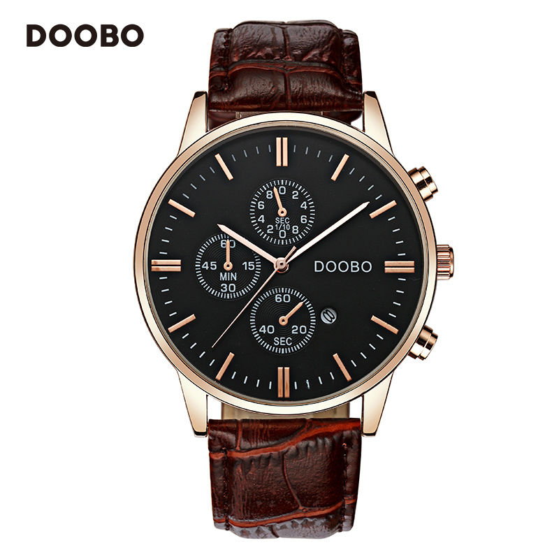 DOOBO luxe merk militaire zakelijke horloges mannen quartz-horloge - Herenhorloges - Foto 3