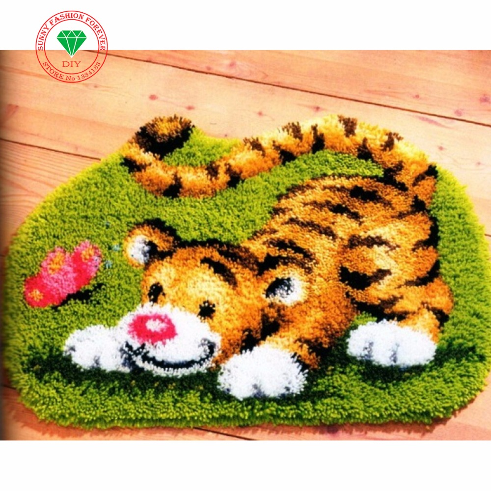 Aliexpress.com : Buy Needlework Cute Tiger Latch Hook Rug