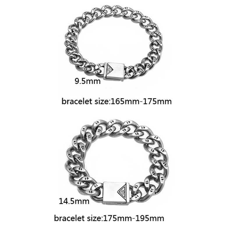 Mcilroy chain & link bransoletki titanium stali nierdzewnej bransoletka mężczyzn bransoletki dla par i bransoletki trendy biżuteria urok biżuteria sprzedaż hurtowa