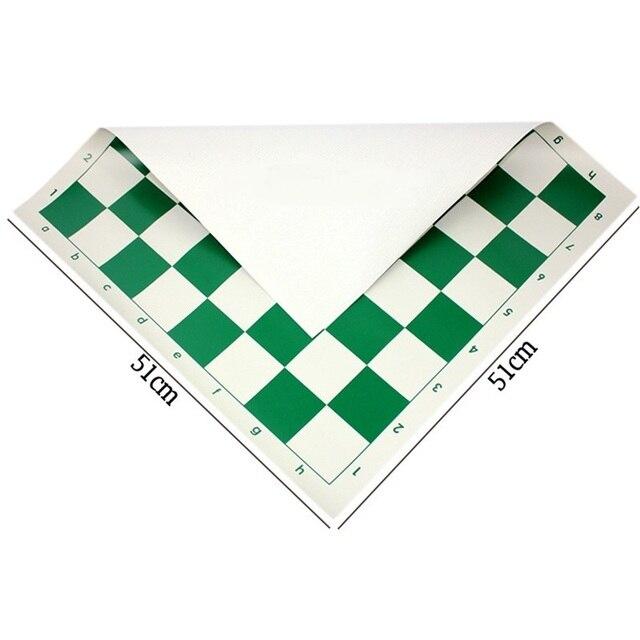 Vert 51cm vinyle tournoi échiquier pour les jeux éducatifs pour enfants tableau magnétique pour les échecs 3