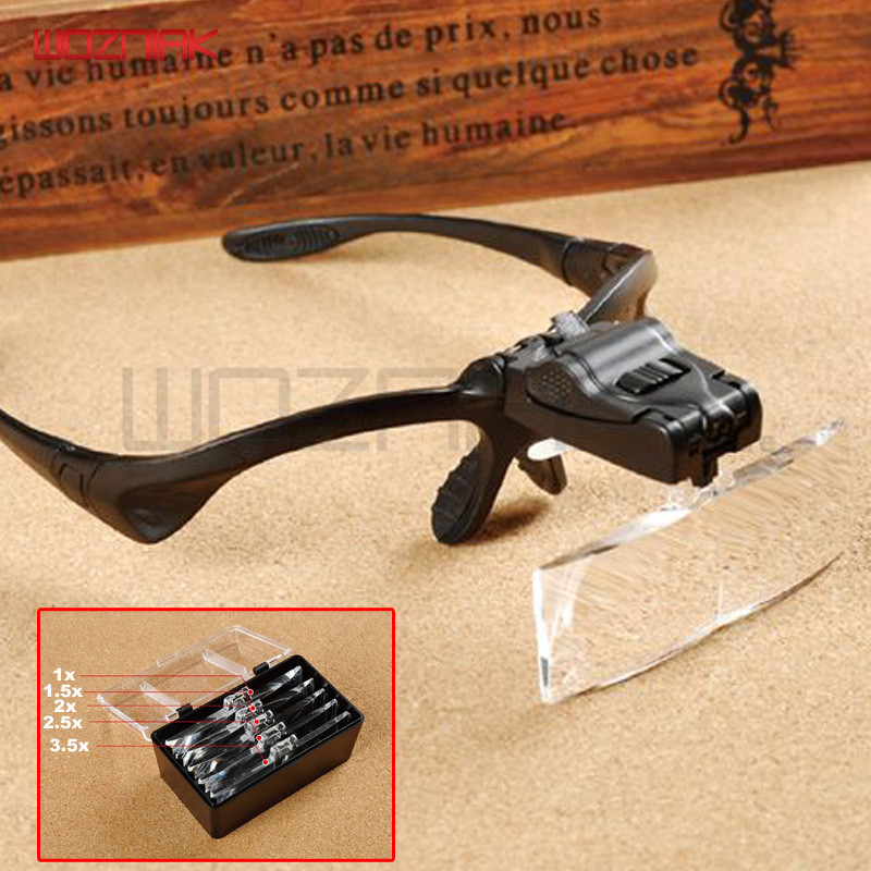 Multi-function Reading magnifier Headlamp Replaceable lens Mobile phone Electronics Repair Magnifiers