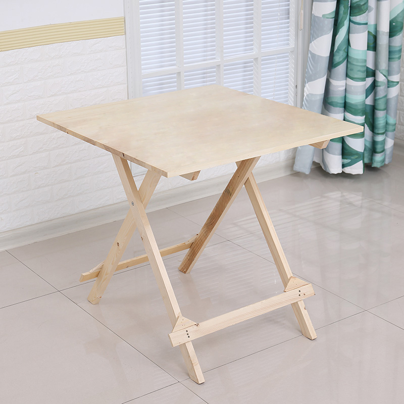 Solid Wood Folding Table.Solid Wood Folding Table Home Eating Small Table Small