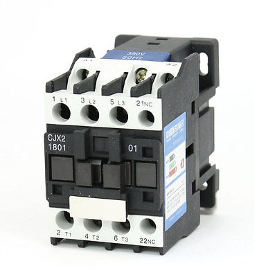 CJX2-1810 AC Contactor 380V 50/60Hz Coil 18A 3-Phase 3-Pole 1NC
