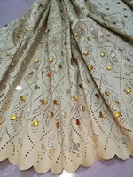 Hot Sale Beautiful African Lace With big stone Fabriac New Embroidered Lace Trim Lacer Cut Lace Fabrics For Weddig Dress