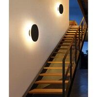 8W LED Wall Lamp Modern Round Indoor Outdoor Wall Sconce Light LED Stair Porch Garden Light Wandlamp Stair Decor Waterproof IP65