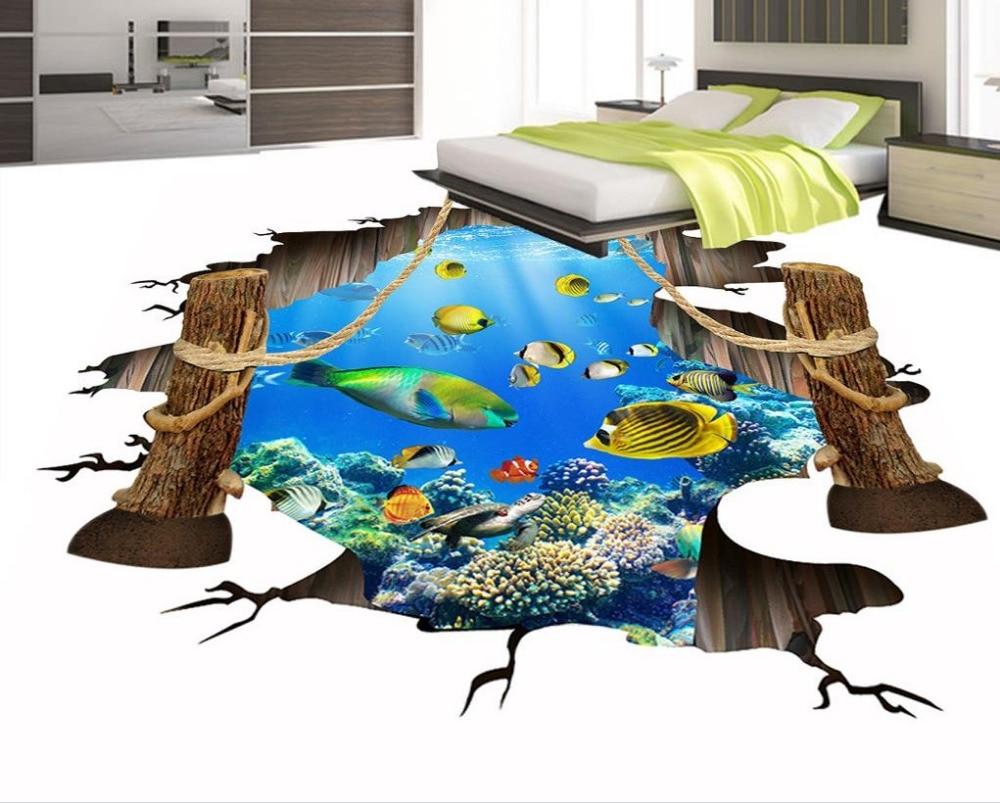 Custom bathroom 3d floor murals modern pvc roll flooring wallpaper self-adhesive waterproof 3d pvc floor custom 3d flooring wallpaper europea pattern 3d floor murals self adhesive wallpaper waterproof pvc wallpaper 3d floor tiles