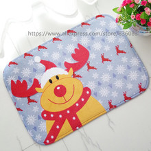 Front door mat bathroom mat/ soft warm strong water absorption The Christmas series F carpet with anti-slip back