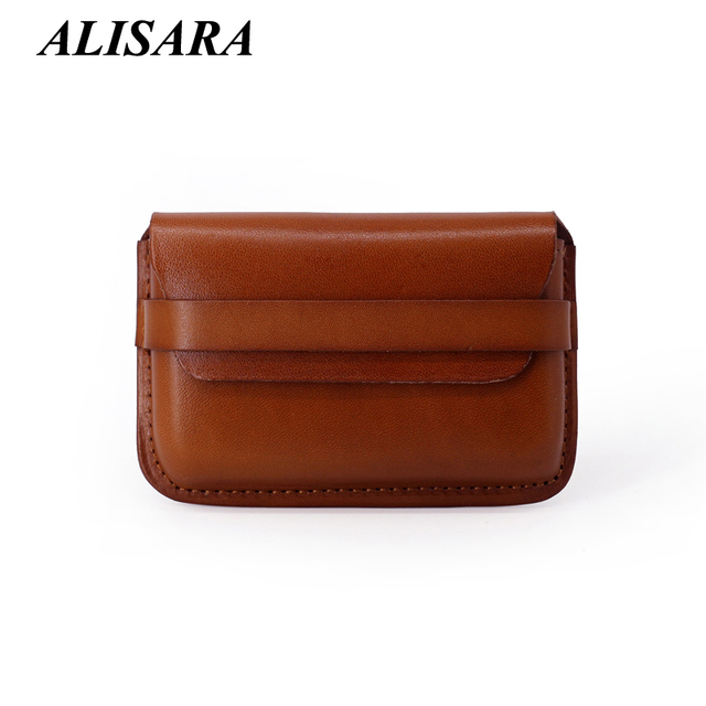 Hight quality Credit Card Wallet genuine leather mini business card holders ID & name card case small change purse Coin Pouch