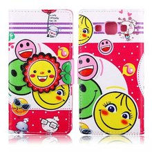 Funny Cute Sweet Fashion Wallet Flip Style PU Leather Case For Samsung GALAXY A5 A500 A5000 Phone Bag Cover Card Holder