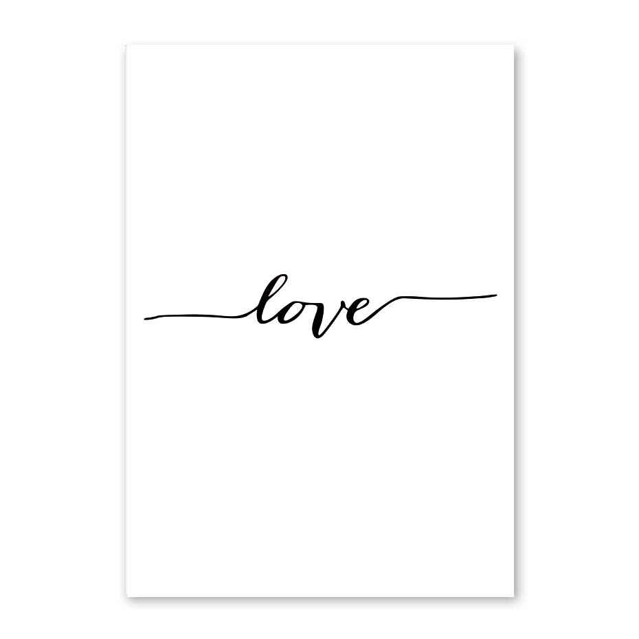 Nordic Poster Heart Picture Black White Canvas Prints Love Poster Wall Art Canvas Painting Heart Posters And Prints (2)