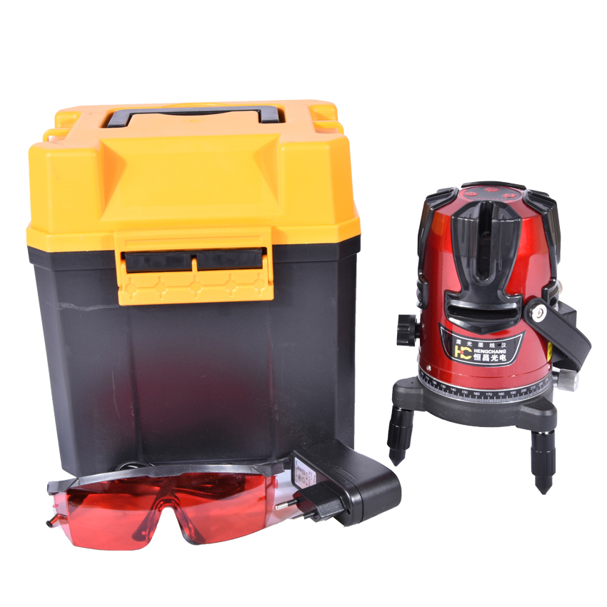 8 Lines 9 Point Laser Level 4V4H9P Rotary Cross Level Laser Line Self Levelling Within 3 Degrees LL01