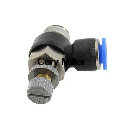Pneumatic Push in Connector 1/4 Male BSP Thread 6mm Hose Tube Flow Speed Control Fitting tube size 12mm 1 4 pt thread pneumatic