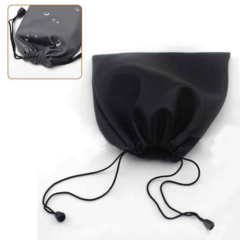 Waterproof Protective Case Black Large Capacity Storage PU Leather Headphones Bag Carry Bags Case for Big Headband Earphones