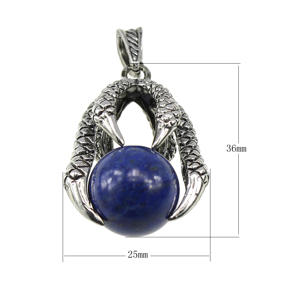 Pendants & Necklaces 2017 Hot Sale Claw Stone Natural Pendant Necklaces Crystal Necklace Mens charm Quartz Stone Jewelry