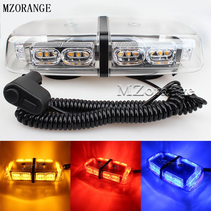 MZORANGE Newest 36 LED Car Roof Flashing Strobe Emergency Light DC 12V Truck Police Fireman Warning Lights Yellow,Blue,Red,White 1set 240 led car roof flashing strobe emergency light dc 12v 20w truck police fireman warning lights blue