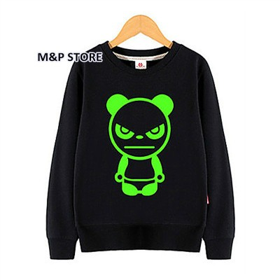 Kids Pullover Noctilucent luminous light 3d print hoodie sweatshirt hip hop spiderman bat man super basketball spring black tops (4)
