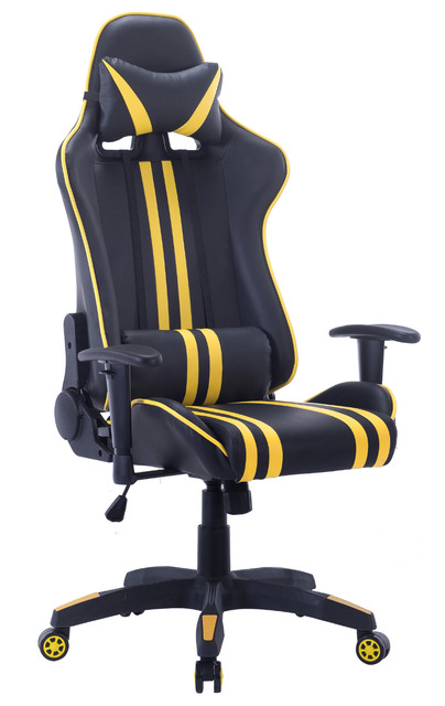 High Back PC Gaming Office All Steel Computer Chair Ergonomic Design Racing Style Premium Leather Lumbar  sc 1 st  AliExpress.com & High Back PC Gaming Office All Steel Computer Chair Ergonomic Design ...
