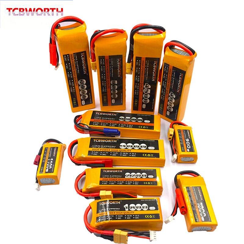 Avião DO RC LiPo Bateria 11.1V 1200 2200 2600 3000 3500 4000 5000mAh 25C 35C60C Para Aviões RC Quadrotor zangão Bateria de carro LiPo